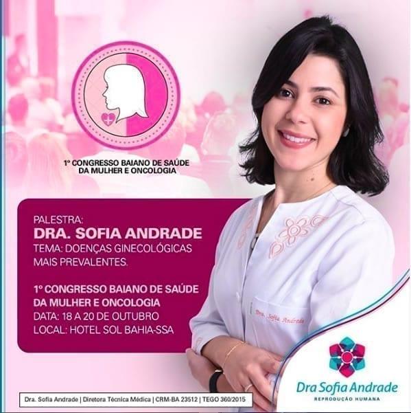 Palestra sobre Doenças Ginecológicas no I Congresso Baiano de Saúde da Mulher e Oncologia.